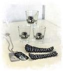 Memnoir Shotglasses, DogTags & Patches